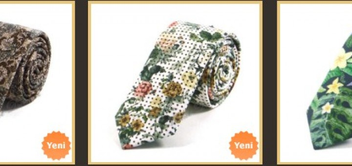 cicek-desenli-slim-fit-keten-kravatlar